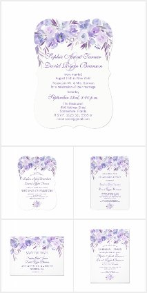 Light Purple Dusty Blue Floral Collection