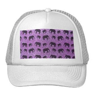 Light purple elephant glitter pattern hats