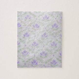 Light Purple Flower Pattern Jigsaw Puzzle