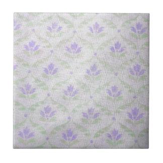 Light Purple Flower Pattern Tile