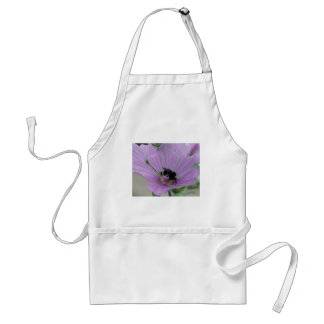 Light Purple Flower With Bee Adult Apron