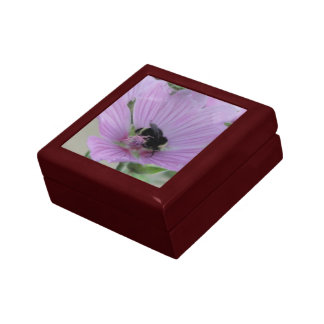 Light Purple Flower with Bee Gift Box