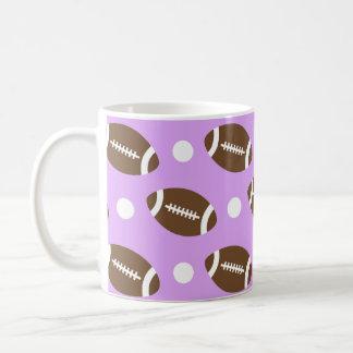 Light Purple Football, White Polka Dots Coffee Mugs