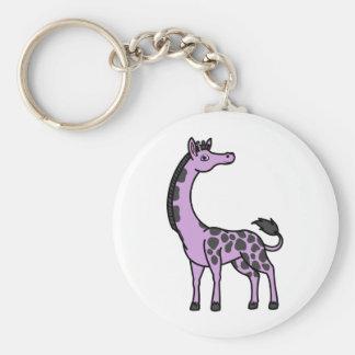 Light Purple Giraffe with Black Spots Keychain
