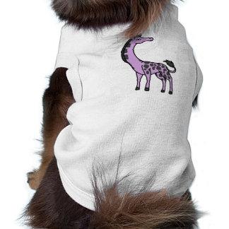 Light Purple Giraffe with Black Spots T-Shirt