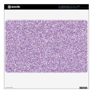 Light Purple Glitter MacBook Air Skin