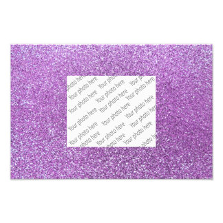 Light purple glitter photo print