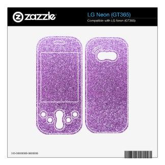 Light purple glitter decal for LG neon