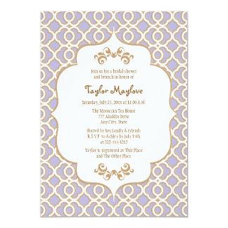 Light Purple Gold Moroccan Bridal Shower Invites