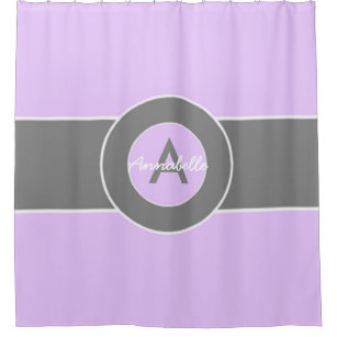 Light Purple Gray Shower Curtain