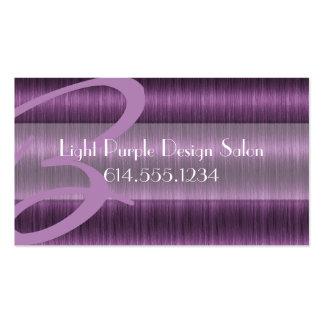 Light Purple Hair Salon Beautician Business Cards