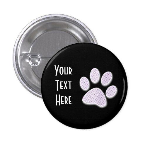 Light Purple Halftone Paw Print Buttons