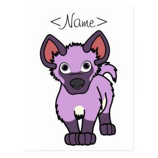 Light Purple Hyena Cub Postcard