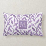 Light Purple Leaves Lumbar Pillow