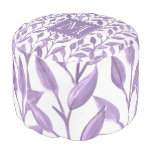 Light Purple Leaves Personalized Pouf