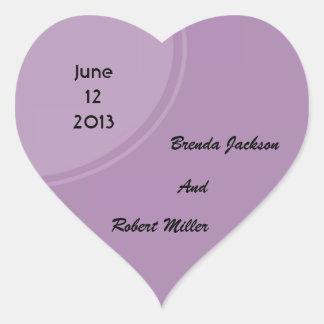 Light purple modern circle heart sticker