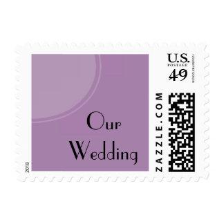 Light purple modern circle postage stamps