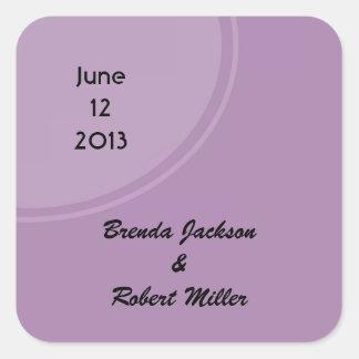 Light purple modern circle square sticker