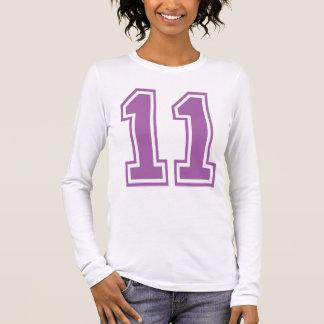LIGHT PURPLE NUMBER 11 LONG SLEEVE T-Shirt