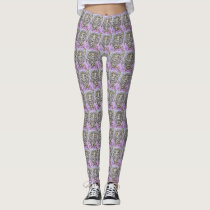 Light Purple Owl Patterned Leggings