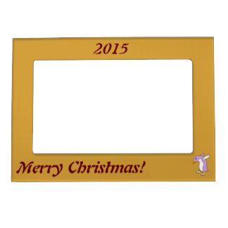 Light Purple Penguin with Yellow Ice Skates Magnetic Frame