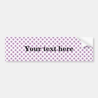 Light purple polka dots pattern bumper sticker