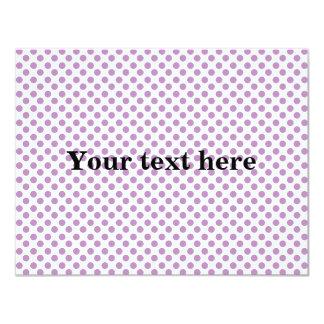 Light purple polka dots pattern card