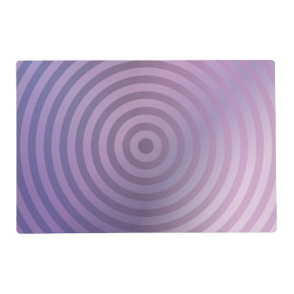 Light purple rings placemat