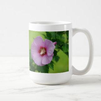 Light Purple Rose of Sharon Classic White Coffee Mug