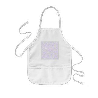 Light purple rose pattern on pale gray. kids' apron