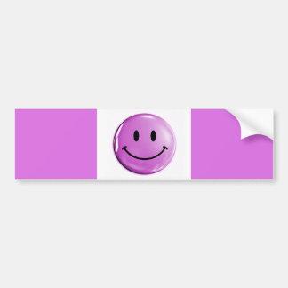 Light purple SMILEY HAPPY FACE CUTE CARTOON FEELIN Bumper Sticker