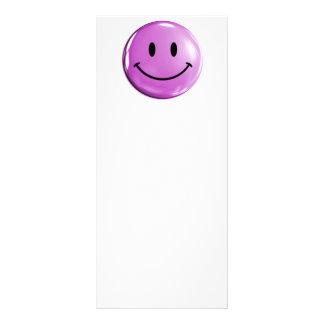 Light purple SMILEY HAPPY FACE CUTE CARTOON FEELIN Custom Rack Card