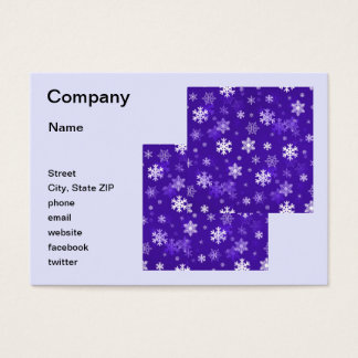 Light Purple Snowflakes Business Card