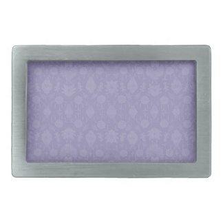 Light Purple Vintage Floral Belt Buckle