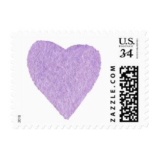 Light Purple Watercolor Heart Postage