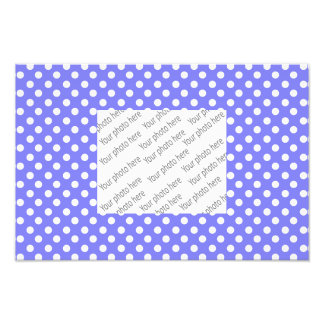 Light purple white polka dots photo print