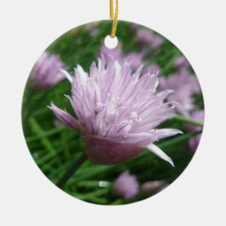 Light Purple Wildflower Ceramic Ornament