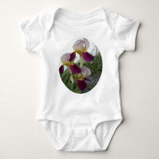 Light purple with pink irises baby bodysuit