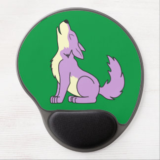 Light Purple Wolf Pup Howling Gel Mouse Pad