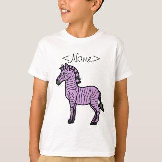 Light Purple Zebra with Black Stripes T-Shirt