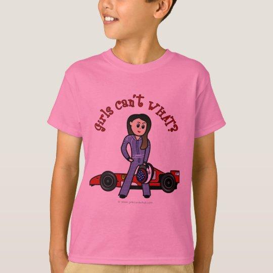Light Race Car Driver Girl T-Shirt