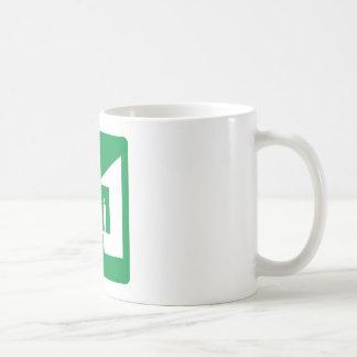 Light Rail Station Highway Sign Coffee Mug