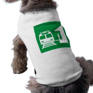 Light Rail Station Highway Sign Doggie Shirt