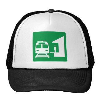 Light Rail Station Highway Sign Trucker Hat