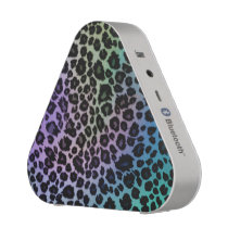 Light Rainbow Leopard Animal Print Speaker