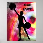 Light Rainbow with Cheerleader Poster