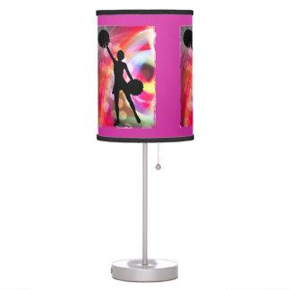 Light Rainbow with Cheerleader Table Lamp