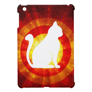 Light Rays Abstract With Magic White Cat iPad Mini Covers
