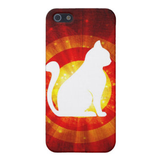 Light Rays Abstract With Magic White Cat Cases For iPhone 5