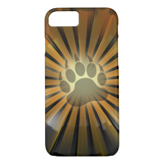 Light Rays Bear Pride Flag Bear Paw iPhone 7 Case